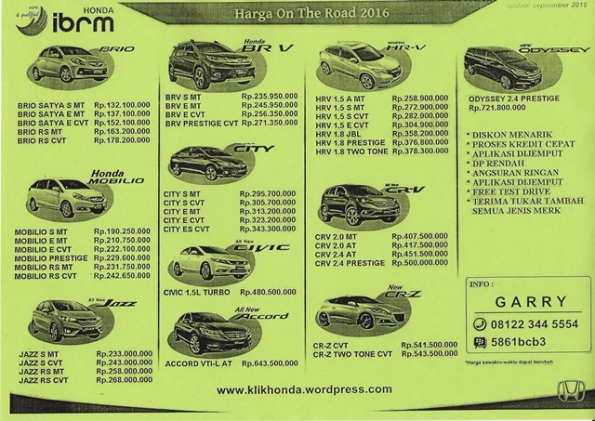 pricelist-honda-september-2016